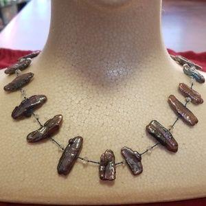 Antique labradorite necklace